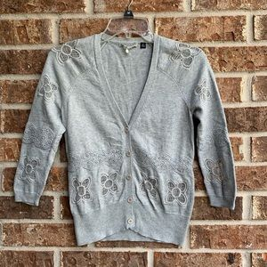 Anthropologie Knitted & Knotted crochet sweater